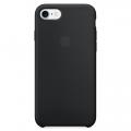 Силиконовый чехол для iPhone 7 Apple Silicone Case чёрного цвета