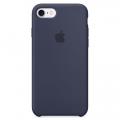 Силиконовый чехол для iPhone 7 Apple Silicone Case тёмно-синего цвета