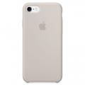 Силиконовый чехол для iPhone 7 Apple Silicone Case серебристого цвета (каменный)