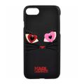 Чехол на Айфон 7 Karl Lagerfeld Choupette in love 2 чёрного цвета