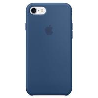 Силиконовый чехол для iPhone 7 Apple Silicone Case синего цвета (глубокий синий)
