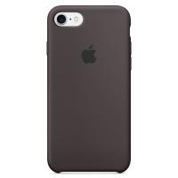 Силиконовый чехол для iPhone 7 Apple Silicone Case тёмно-серого цвета (тёмное какао)