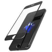 Защитное стекло на Айфон 7 Devia Anti Glare Full Screen Tempered Glass 3D чёрного цвета