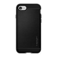 Чёрный чехол для iPhone 7 Spigen Neo Hybrid Series класс А с серой вставкой