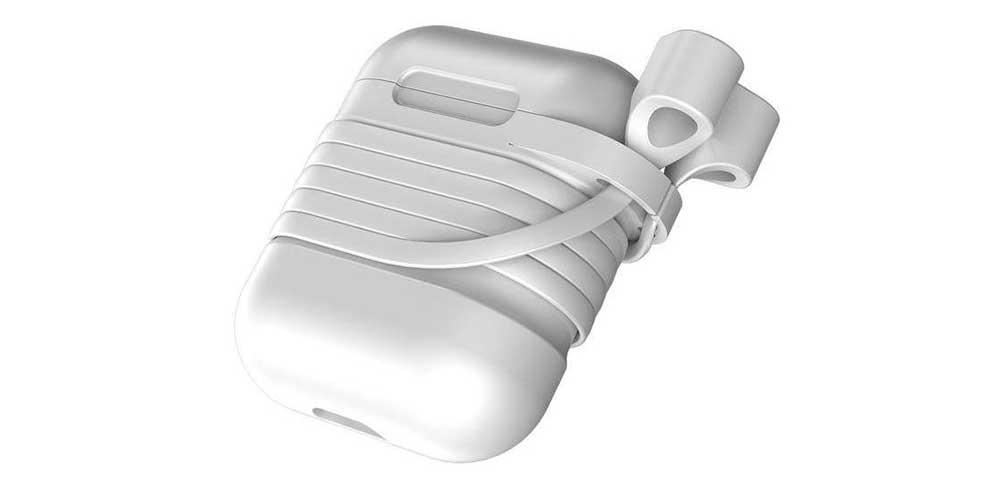 Чехол с держателем Baseus для наушников Apple AirPods-описание