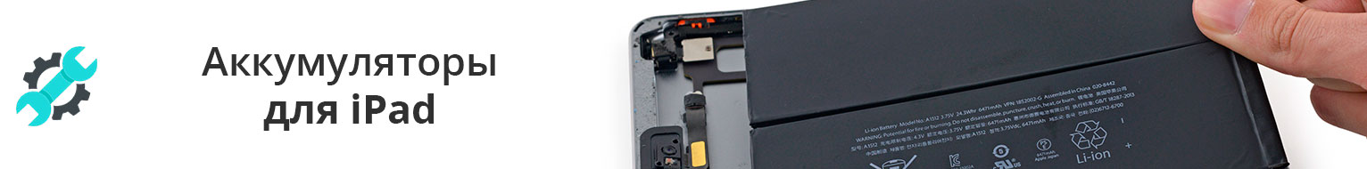 Аккумуляторы и батареи для iPad