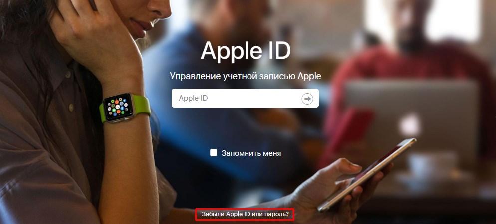 Восстановить забытый логин Apple ID через Safari