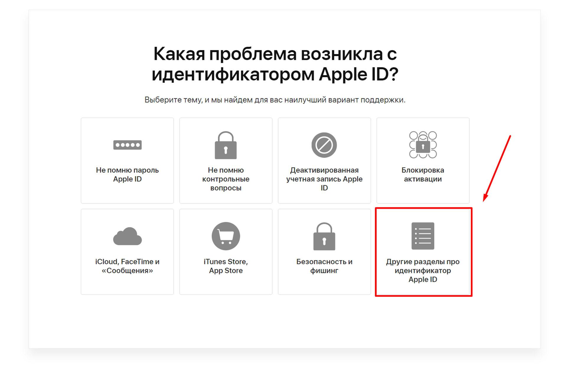 восстановить id apple если забыл логин