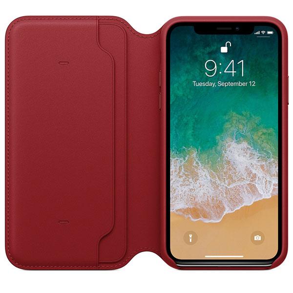 Leather Folio (PRODUCT) RED для iPhone X