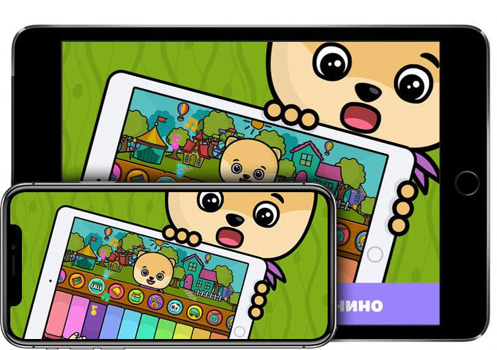Детское пианино игры для детей на iPhone X и iPad