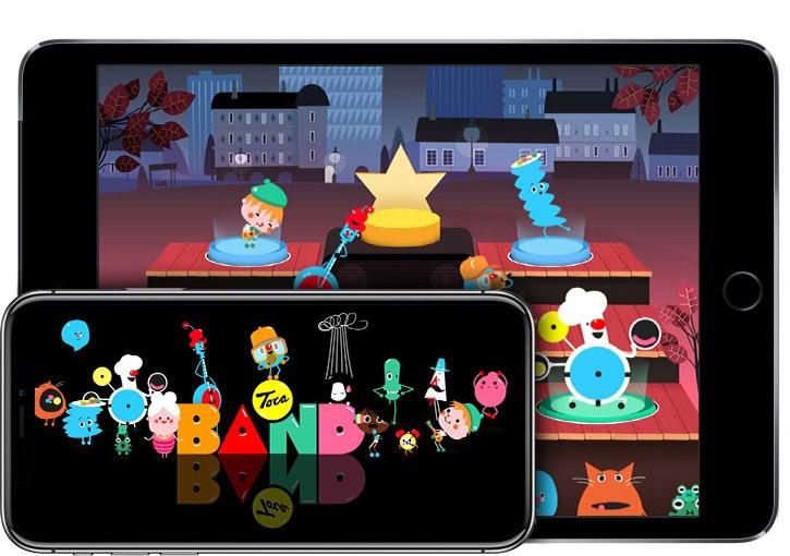 Toca Band на iPhone X и iPad