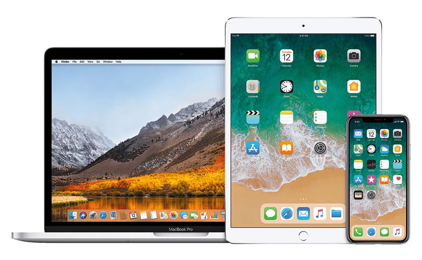Ноутбук, планшет, смартфон и умные часы