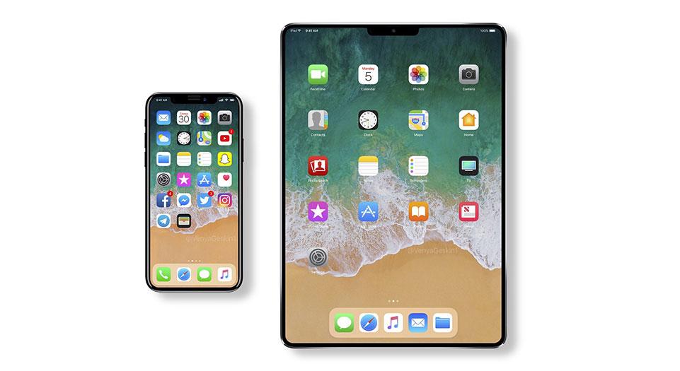 Рендеры iPhone и iPad 2018