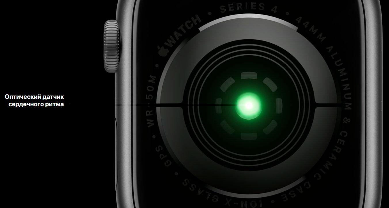 Датчики и сенсоры Apple Watch Series 4
