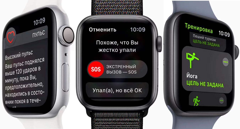 Система слежения за здоровьем на Apple Watch Series 4