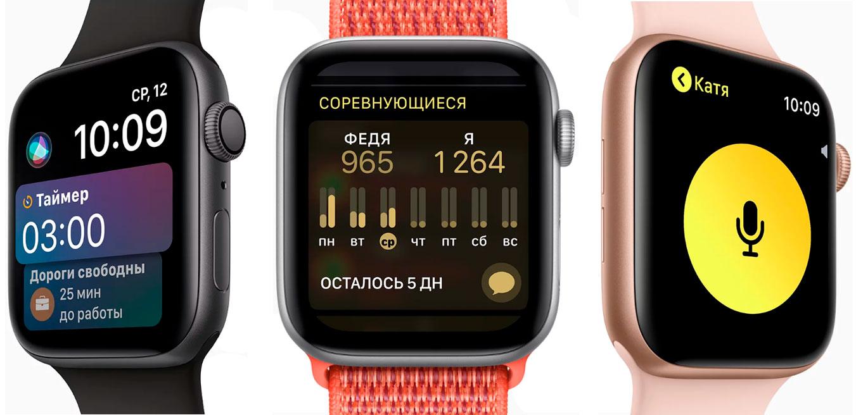 Программы для тренировок Apple Watch Series 4