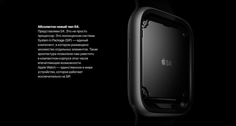 Процессор Apple Watch Series 4