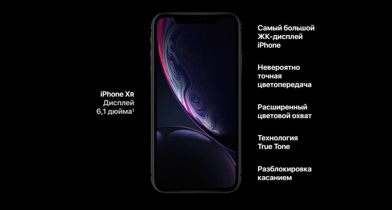 Экран iPhone XR