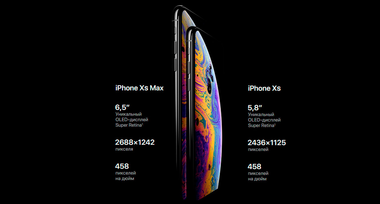 дисплей iPhone XS и iPhone XS Max