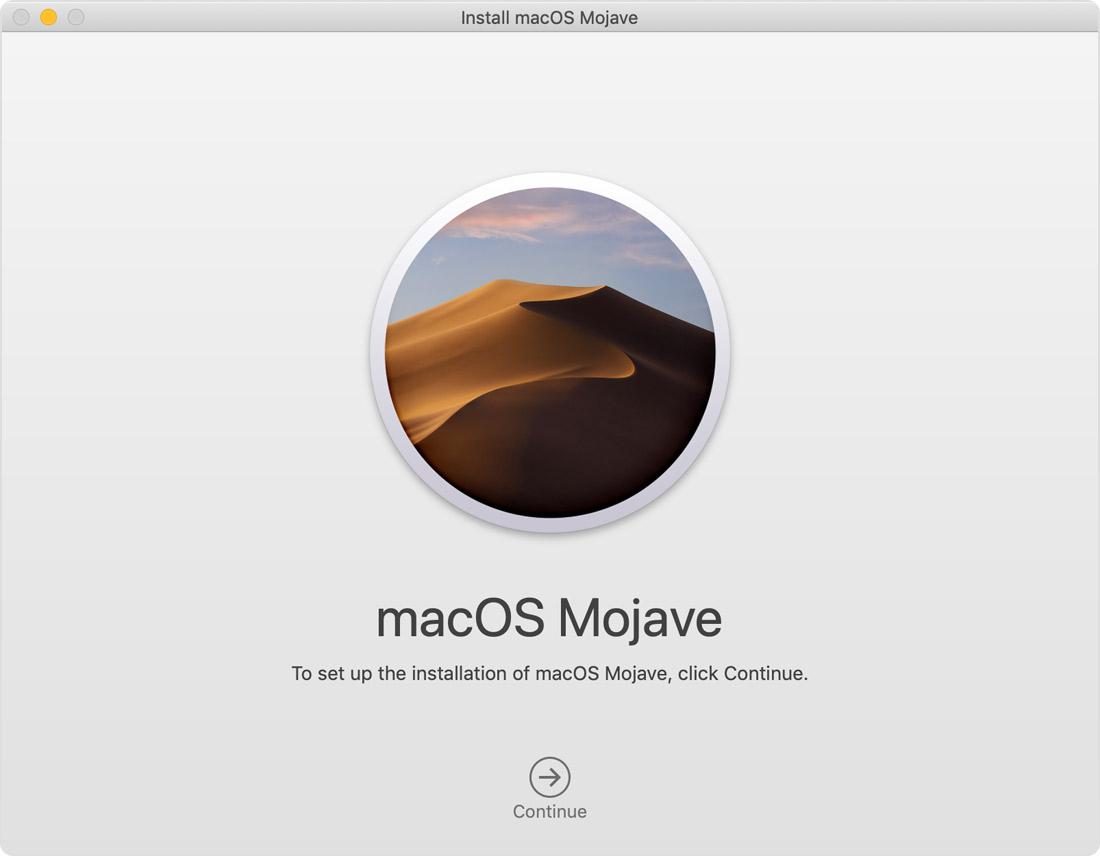установка macOS Mojave