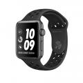Apple Watch Nike+ 42 мм, корпус из алюминия цвета «серый космос», спортивный ремешок Nike цвета «антрацитовый/чёрный» (MQ182)