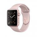 Apple Watch Series 1, 42 мм, корпус из алюминия цвета «розовое золото», спортивный ремешок цвета «розовый песок» (MQ112)