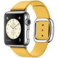 Apple Watch 38 мм, нержавеющая сталь, ремешок 135–150 мм цвета «весенняя мимоза» с современной пряжкой (MMFD2)