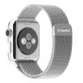 Фото миланского сетчатого браслета для Apple Watch 38 мм, Remax, серебристого