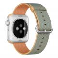 """Фото нейлонового ремешка для Apple Watch 42 мм, """"золотистый / кобальт"""""""