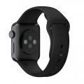 "Фото спортивного ремешка для Apple Watch 38 мм, ""серый космос"""