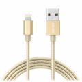 Кабель Anker USB-Lightning, 1,8м, капрон, 4000+ перегибов, золотой (A7114HB1)