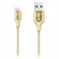 Кабель Anker PowerLine+ USB-Lightning MFi 0,9 м. золотистого цвета