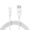 Кабель Anker PowerLine+ USB-Lightning, 1,8м, кевлар, 6000+ перегибов, белый (A8122H21)