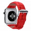 Фото кожаного ремешка HOCO для Apple Watch 42 мм, красного