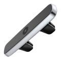 Держатель автомобильный Baseus Double Clip, магнитный, серебристый - фото