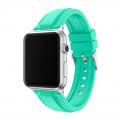 Фото спортивного ремешка для Apple Watch, зелёного