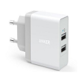 Сетевое зарядное устройство Anker 2 USB, 24W, 4.8A, белое-фото