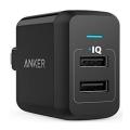 Сетевое зарядное устройство Anker 2 USB, 24W, 4.8A, черное-фото