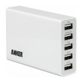 Сетевое зарядное устройство  Anker PowerPort 5 USB, 25W, 5A, белый - фото