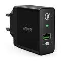 Сетевое зарядное устройство Anker PowerPort+, 18 Вт, черное-фото