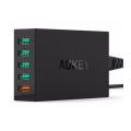 Сетевое зарядное устройство Aukey, 40 Вт, черное-фото