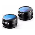 Набор объективов Aukey Optic 2-in-1 Lens Set, черный-фото