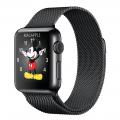 Apple Watch 38 мм, «черный космос», миланский сетчатый браслет цвета «черный космос» 130–180 мм (MMFK2)