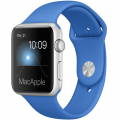 "Apple Watch Sport 42 мм, серебристый алюминий, спортивный ремешок цвета ""кобальт"" (MMFM2)"