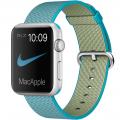 "Apple Watch Sport 42 мм, серебристый алюминий, ремешок из плетёного нейлона цвета ""аквамарин"" (MMFN2)"