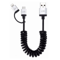 Кабель Just Mobile AluCable DuoTwist USB на Lightning-microUSB, 1.8 метра - фото