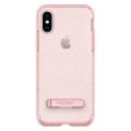 Чехол SGP Crystal Hybrid Glitter для iPhone X, розовый кварц-фото