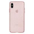 Чехол SGP Liquid Crystal Glitter для iPhone Х, розовый кварц-фото