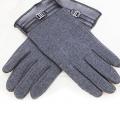 Кашемировые перчатки iCasemore Clasp с пряжкой Grey