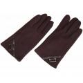 Перчатки iCasemore для емкостных дисплеев кашемировые с кнопкой. Коричневый